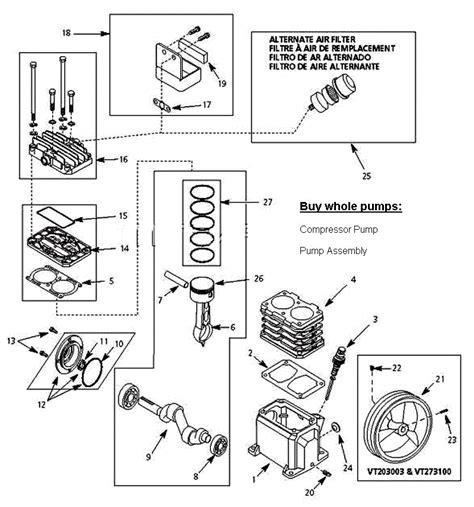 vtkb vtkb campbell hausfeld air compressor parts