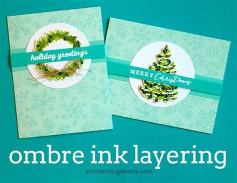 by jennifer mcguire ink video ombre ink layering blog hop giveaway jennifer