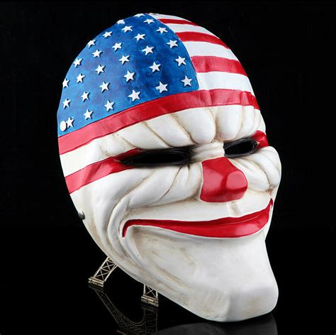 Topeng Payday Mask Payday 1 payday 2 heist dallas mask joker costume props collection horror mask ebay