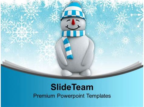 snowman  hat standing winter powerpoint templates  themes  graphics  templates