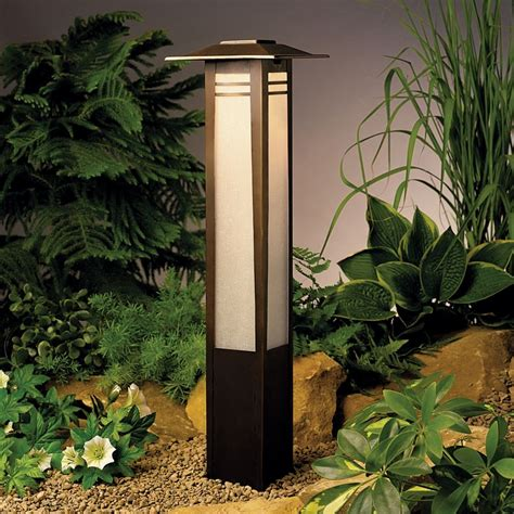 Kichler Low Voltage Bollard Path Light 15392oz Kichler Outdoor Landscape Lighting