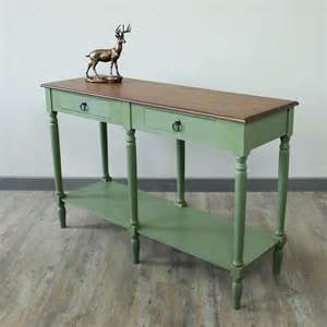 green and honey console table melody maison 174