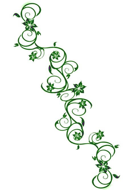 vine leaf tattoo designs vine outline clipart best