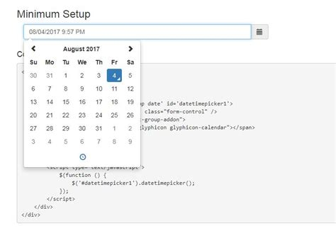 bootstrap keyboard layout vue js component for eonasdan bootstrap datetimepicker