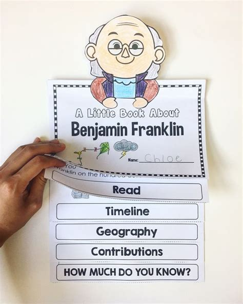 benjamin franklin biography 3rd grade benjamin franklin flipbook social studies school and