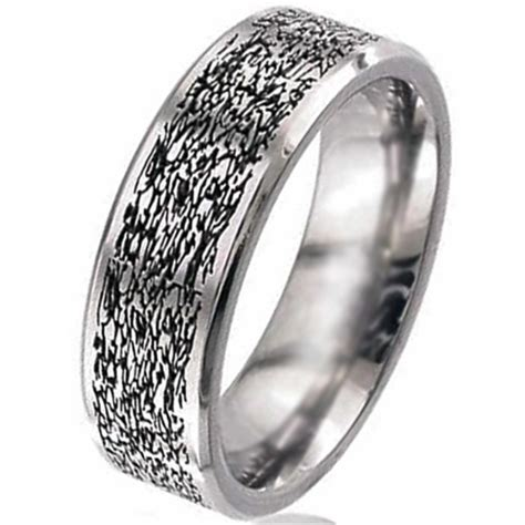 Wedding Ring Flat Design by Flat Profile Titanium Wedding Ring Titanium Rings Suay