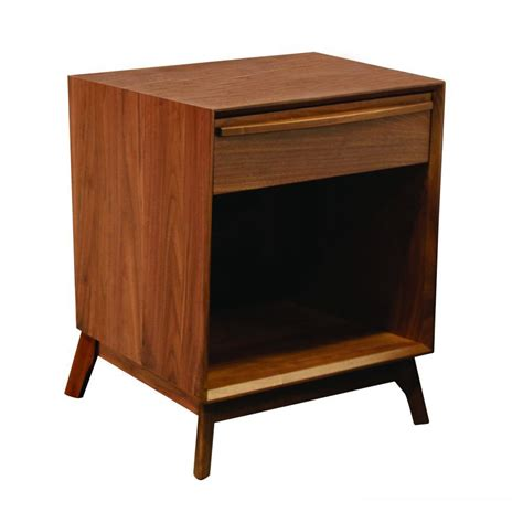Nadine Collection Nightstand Amish Crafted - cambridge mid century bedroom collection nightstand