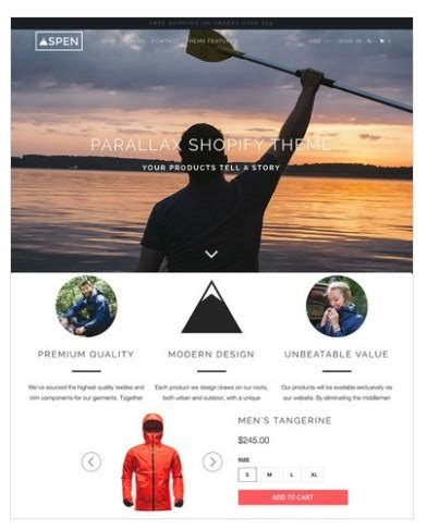 shopify themes parallax 3 steps to start an online ecommerce shop easily and