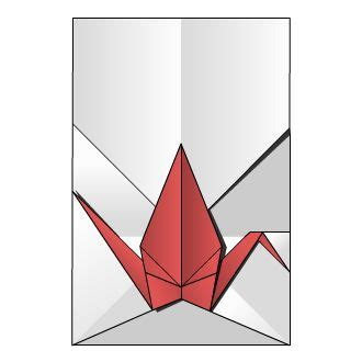 Origami Envelope Diagram - crane envelope origami diagram wedding