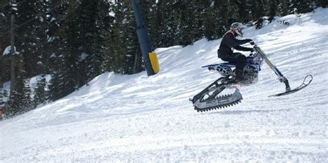 snow motocross bike convert your dirt bike into a snowbike motosport