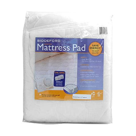 biddeford cal king quilted electric heated mattress pad ebay