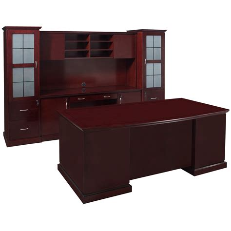 cambridge executive office set mahogany national office interiors  liquidators