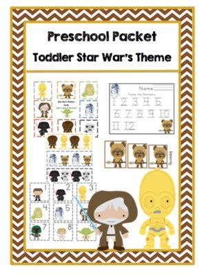 Paket Toddler preschool packet toddler war s theme
