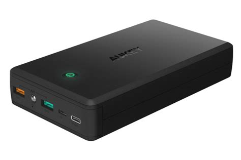 Power Bank Aukey aukey 30000mah power bank with charge 3 0 review can fully charge a sleeping macbook