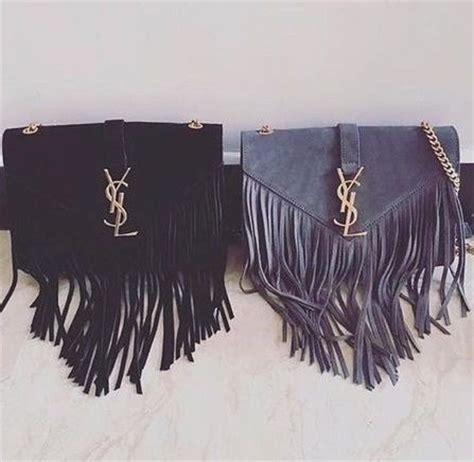 yves saint laurent monogram serpent medium fringed leather