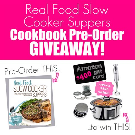 Pdf Real Food Cooker Suppers real food cooker suppers giveaway diary of a recipe