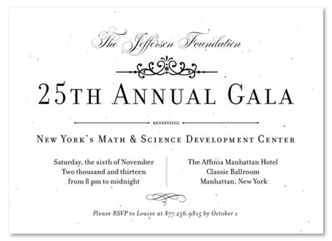 formal gala invitations vip gala invitation and