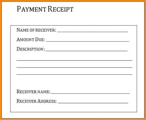receipts journal document template sle receipt for sle of a business templates