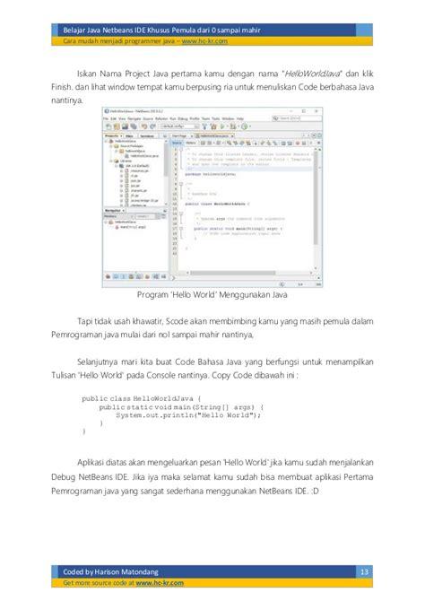 tutorial java netbeans untuk pemula belajar netbeans java pemula dari 0 sai mahir
