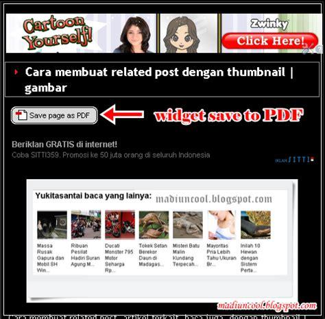 membuat blog pdf copas 5menit cara membuat dan menambahkan widget save to