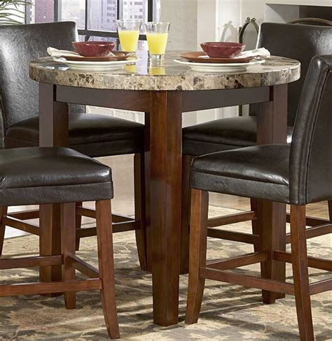 Marble Topped Dining Tables Homelegance Achillea Counter Height Dining Table Marble Top 721m 36rd