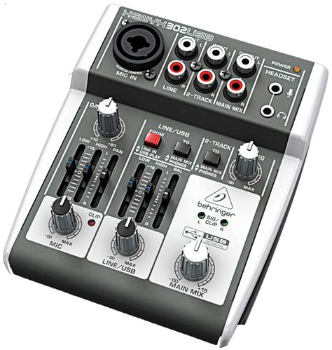 Mixer Behringer Xenyx 302 Usb behringer xenyx 302usb premium 5 input mixer with xenyx mic pre and usb audio interface 302usb