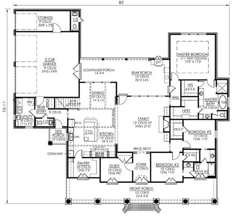 house plans monster southern style house plans 2674 square foot home 1