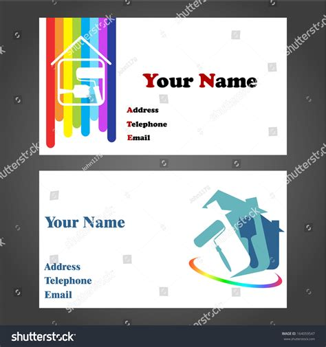 home design outdoor living credit card business card designs for painters and decorators stock