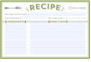 21 free recipe card template word excel formats