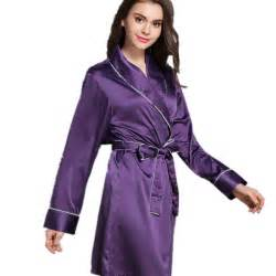robe de chambre longue en satin best dress