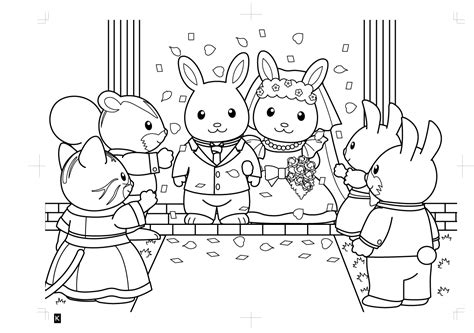 sylvanian family coloring page my world of sylvanian families раскраски