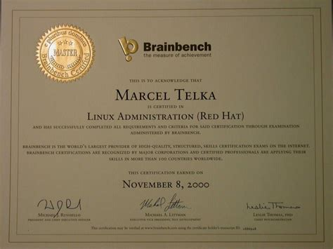 brain bench certification brain bench certification certificate gratis con