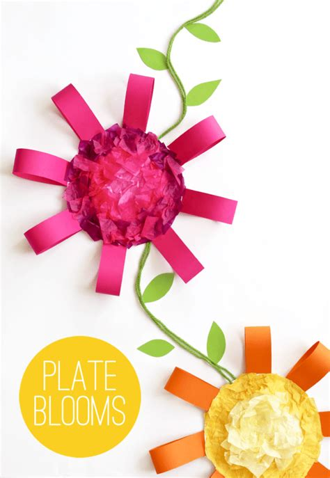Paper Plate Flower Craft - eos lip balm printable gift idea tatertots and jello