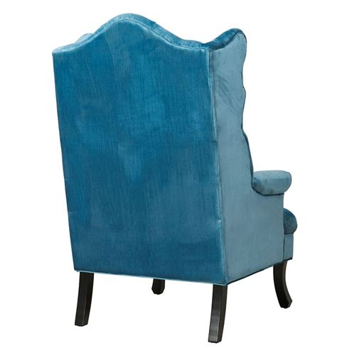 blue velvet wing chair blue velvet wing chair on storenvy