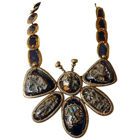 tom ford jewelry tom ford eisner big butterfly druzy necklace