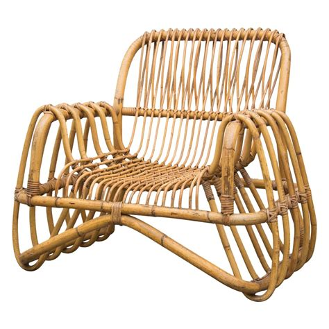 bamboo lounge chairs bamboo lounge chair in the style of franco albini at 1stdibs