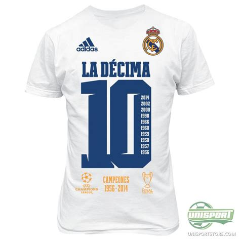 T Shirt La Decima real madrid t shirt la d 233 cima white www