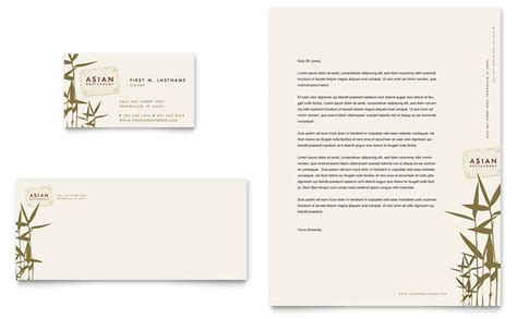 restaurant business cards templates free asian restaurant business card letterhead template design