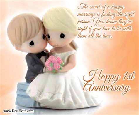 create 1st wedding anniversary ecards (send/download)
