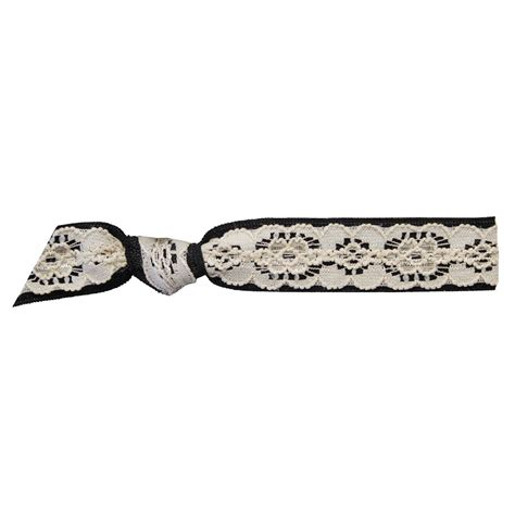 Lace Hair Tie emi lace on black hair tie