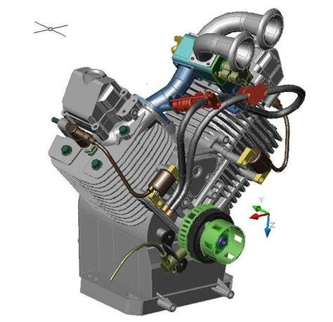 Honda Gx620 by Highly Tuned Honda Industrial Gx620 Engine 3d Cad Model