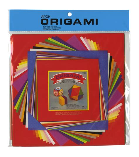 Solid Colored Origami Paper - origami paper set assorted sizes 60 pkg solid colors jo