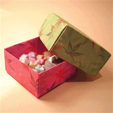 Origami Box With Lid Printable - origami box