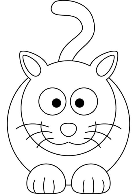 free funny cat coloring page