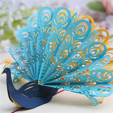 hochzeitseinladung pfau aliexpress buy creative peacock invitation card