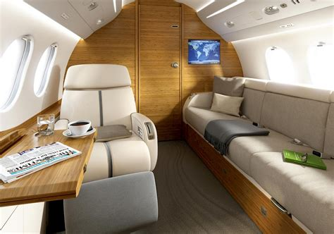 Falcon 10 Interior by Vip Business Aviation Markets Tapis Corp