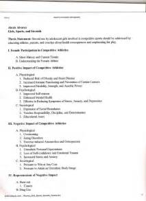 Example Outline For A Research Paper Research Paper Outline Example Examples Of Outlines
