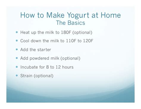 yogurt at home