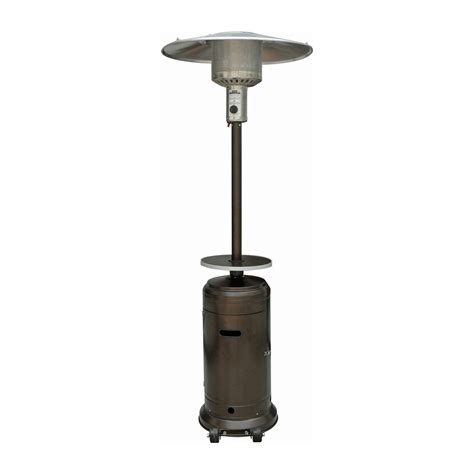 Outdoor Propane Patio Heaters Az Patio Heaters Hlds01 Outdoor Propane Patio Heater With Adjustable Table Atg Stores