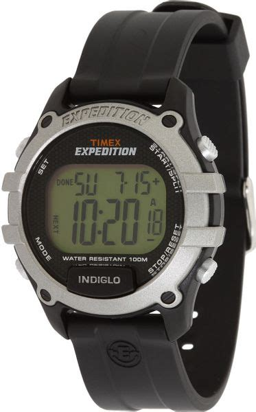 Expedition E6381 Rantai Silver Black 1 timex 174 expedition cat digital black resin in silver for lyst
